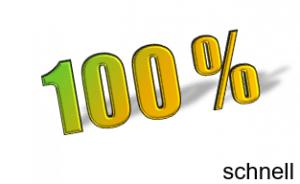 100% schnell